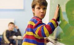 Hetk meelepuuetega lastele mõeldud Tallinna Heleni Kooli klassist.